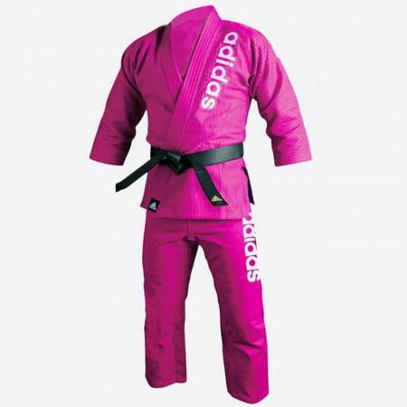adidas Jiu-Jitsu Martial Arts Double Weave Gi, Pink