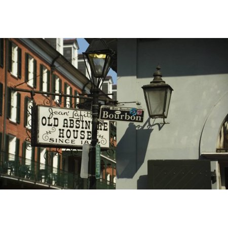 Bourbon Street Sign in New Orleans Print Wall Art By Karen - New Orleans Street Signs