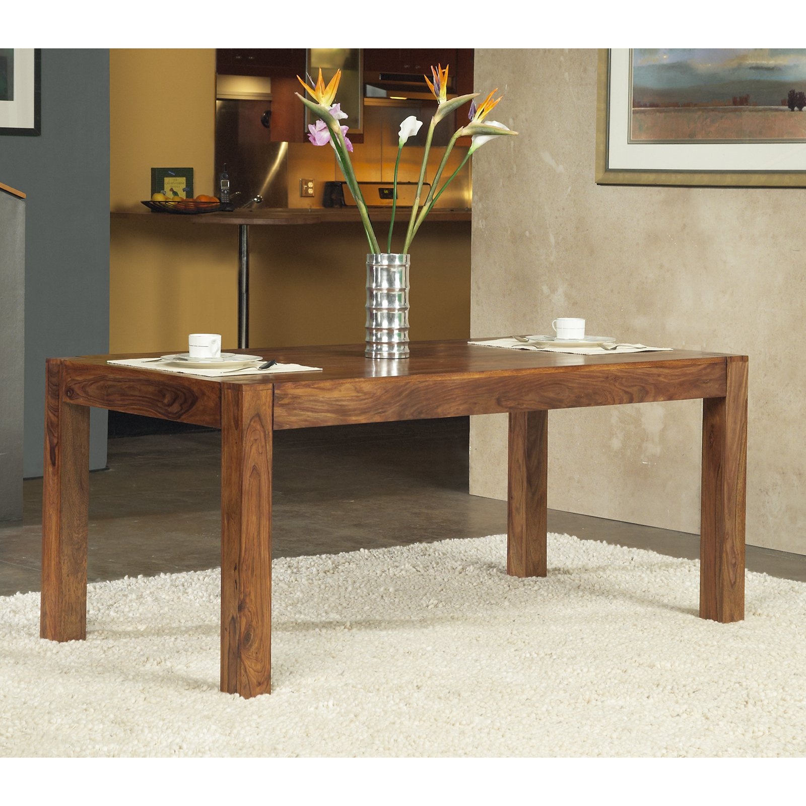 Modus Genus Solid Wood Dining Table Honey by Modus Furniture