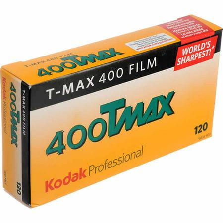 Kodak T-Max 400, 400TMY, Black & White Negative Film ISO 400, 120 Size, Pack of 5
