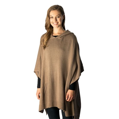 - Women's Fall Winter Knitted Hooded Soft Warm Poncho Sweater Top for Women