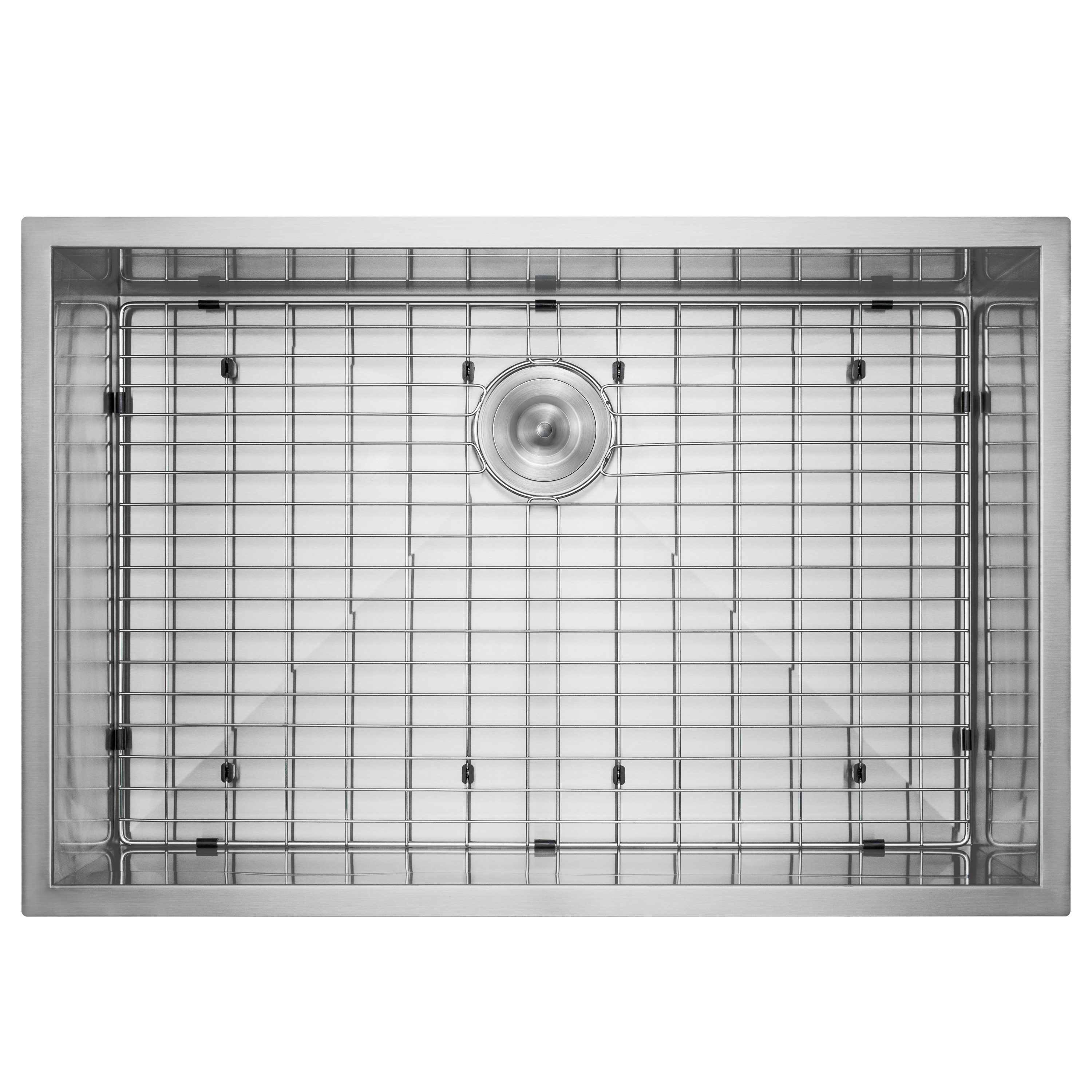 "Image of AKDY 33"" x 22"" x 9"" Handmade Under Mount Single Basin Stainless Steel Kitchen Sink Dish Grid w/ Drain Kit"