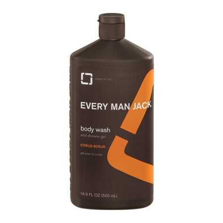 Every Man Jack Body Scrub And Shower Gel Citrus, 16.9 FL - Man Shower