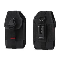 Krofel Pouch Cover Holster Clip for iPhone 11 Pro / Xs / XR / X / 8/7 / Samsung Galaxy Note 10 / S10/S10e / S9/S8/S7/ A10e / CAT S48c / Sonim XP8 / Google Pixel 4/3a/3/2 / Revvlry (Fits w/ Hard Case)