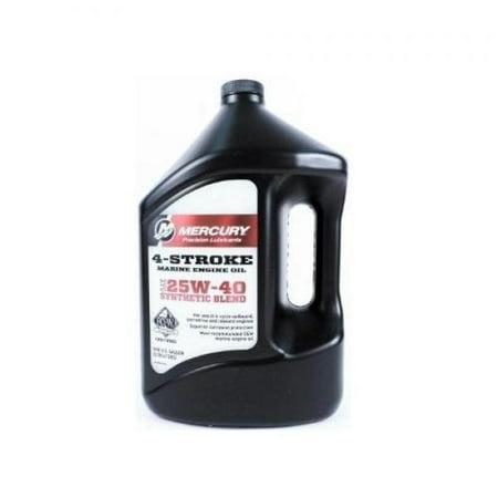 Mercruiser Alpha One (Mercruiser OEM Synthetic Blend 25W-40 Engine Oil 92-8M0078630 Gallon )