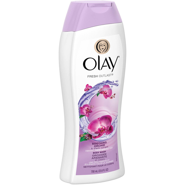 Olay Fresh Outlast Soothing Orchid & Black Currant Body Wash, 23.6 fl oz