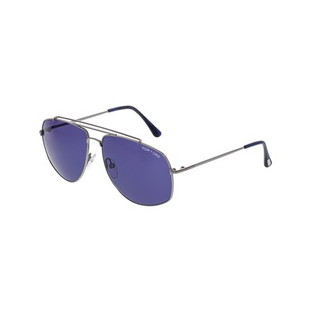 - Tom Ford Georges FT0496-14V-59 Silver Aviator Sunglasses