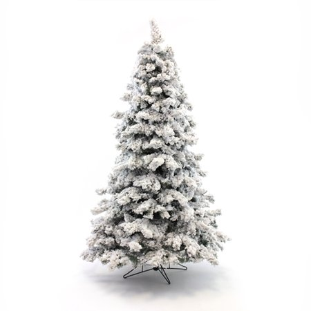 Perfect Holiday 5ft Pre Lit Christmas Tree Alaskan Pine Heavy Flocked 725 Tips Ul 300 Warm White Led Bm5 Metal Base Dia 37