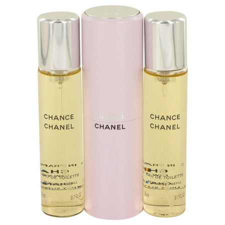 Chance by Chanel Mini EDT Spray + 2 Refills 3 x.7 (Designer For Chanel)