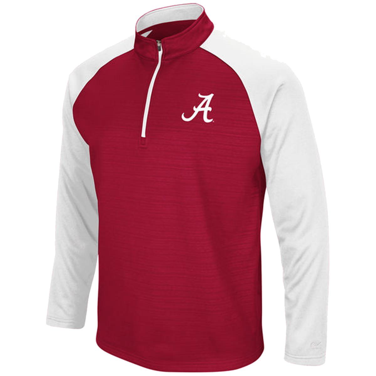 Colosseum NCAA Alabama Crimson Tide Mens Setter 1 4 Zip Fleece Jacket by COFZ10672 AL