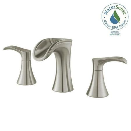 Widespread 2-Handle Waterfall Bathroom Faucet in Brushed Nickel - Walmart.com