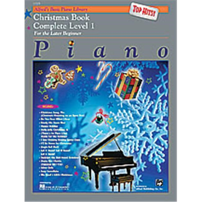 Alfred 00-17203 Basic Piano Course- Top Hits Christmas Book Complete 1- 1A-1B - Music Book