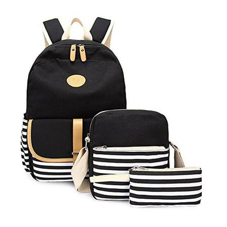 McMola - Causal Girls School Bookbags Canvas Rucksack Backpack For Girls  Backpacks Set - Walmart.com 962ced4b6b