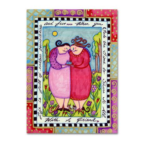 Trademark Fine Art 'Big Diva Best Friends' Canvas Art by (Ali G Best Of)