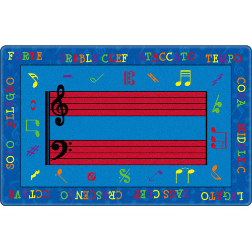 Flagship Carpets Fun with Music Kids Rug