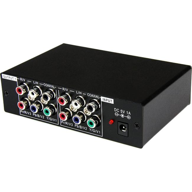 StarTech.com 3 Port Component Video Splitter with Digital Audio