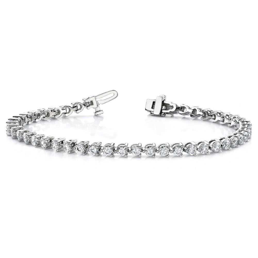 14k White Diamond Tennis Bracelet Mtg by IceCarats