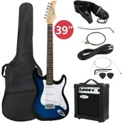 """ZENSTYLE 39"""" Full Size Electric Guitar with Amp, Case and Accessories Pack Beginner Starter Blue"""