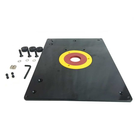 Big horn 18101 9 inch x 12 inch router table insert plate w guide big horn 18101 9 inch x 12 inch router table insert plate w keyboard keysfo Image collections