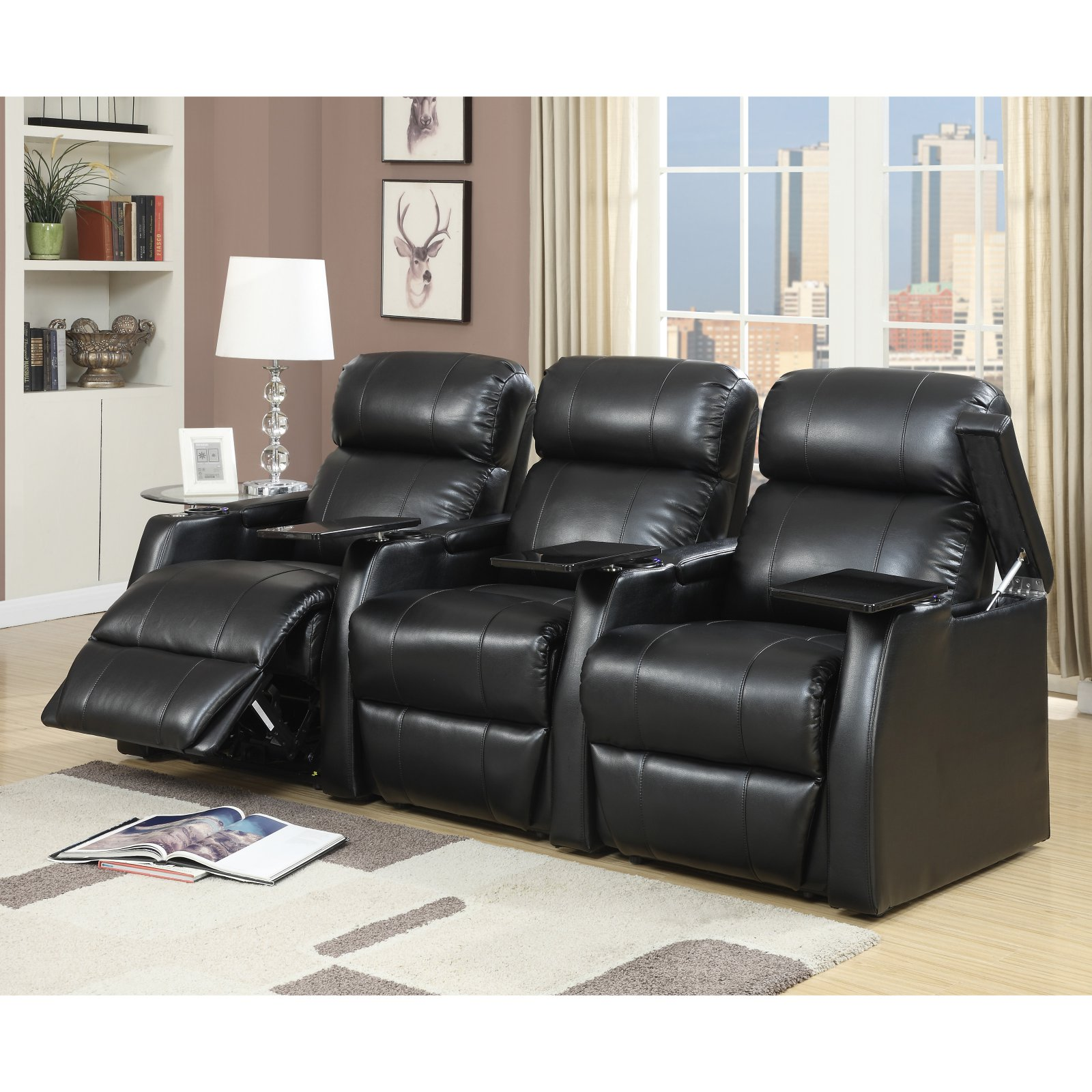 Picket House Furnishings Cecille 3 Piece Home Theater Power Recliner Set