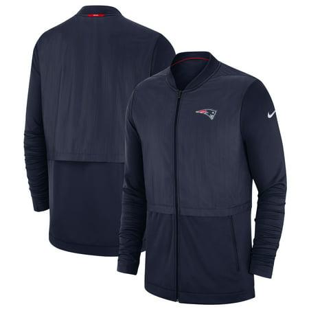 New England Patriots Nike Sideline Elite Hybrid Full-Zip Jacket - Navy Nike Football Jacket
