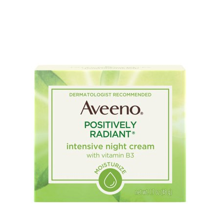 Aveeno Positively Radiant Intensive Moisturizing Night Cream, 1.7 (C-vit Moisturizing Facial Cream)
