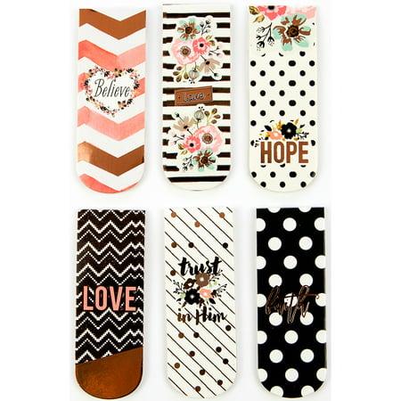 Prima Love, Faith, Scrap Planner Magnetic Bookmarks - Halloween Bookmark Craft Kit