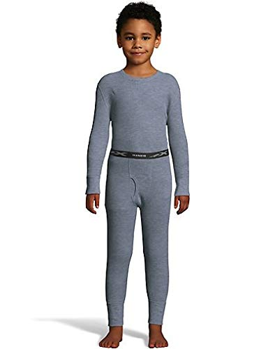 Hanes Boy's Waffle Knit Thermal Set With Freshiq  - Ships Directly From Hanes