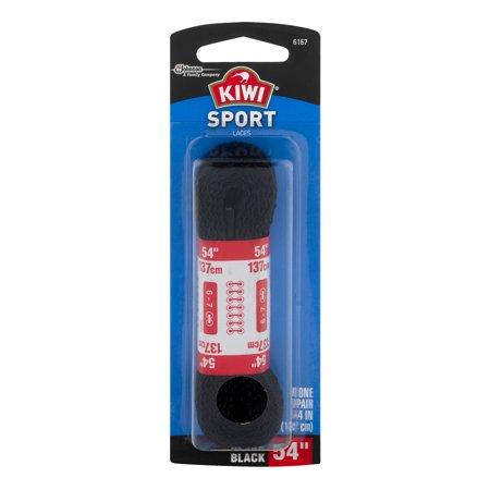"Image of Kiwi Sport Laces Flat Black 54"" - 1 PR, 1.0 PR"