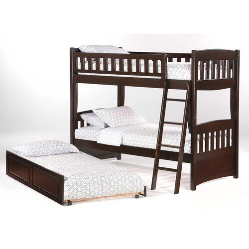 Night & Day Furniture Cinnamon Twin Bunk Bed in Dark Chocolate