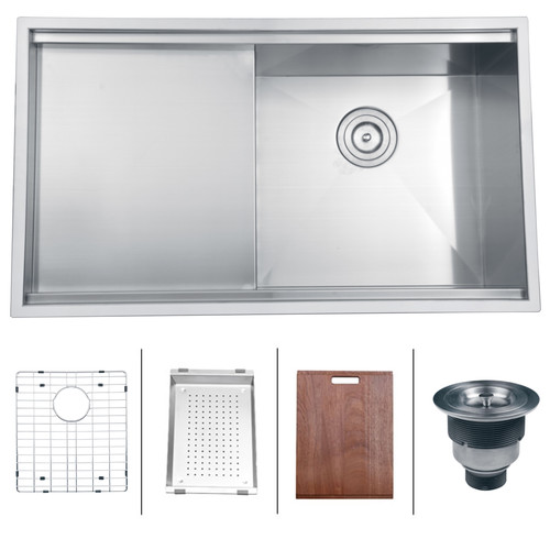 Ruvati Roma 33 X 19 Undermount Single Bowl Kitchen Sink