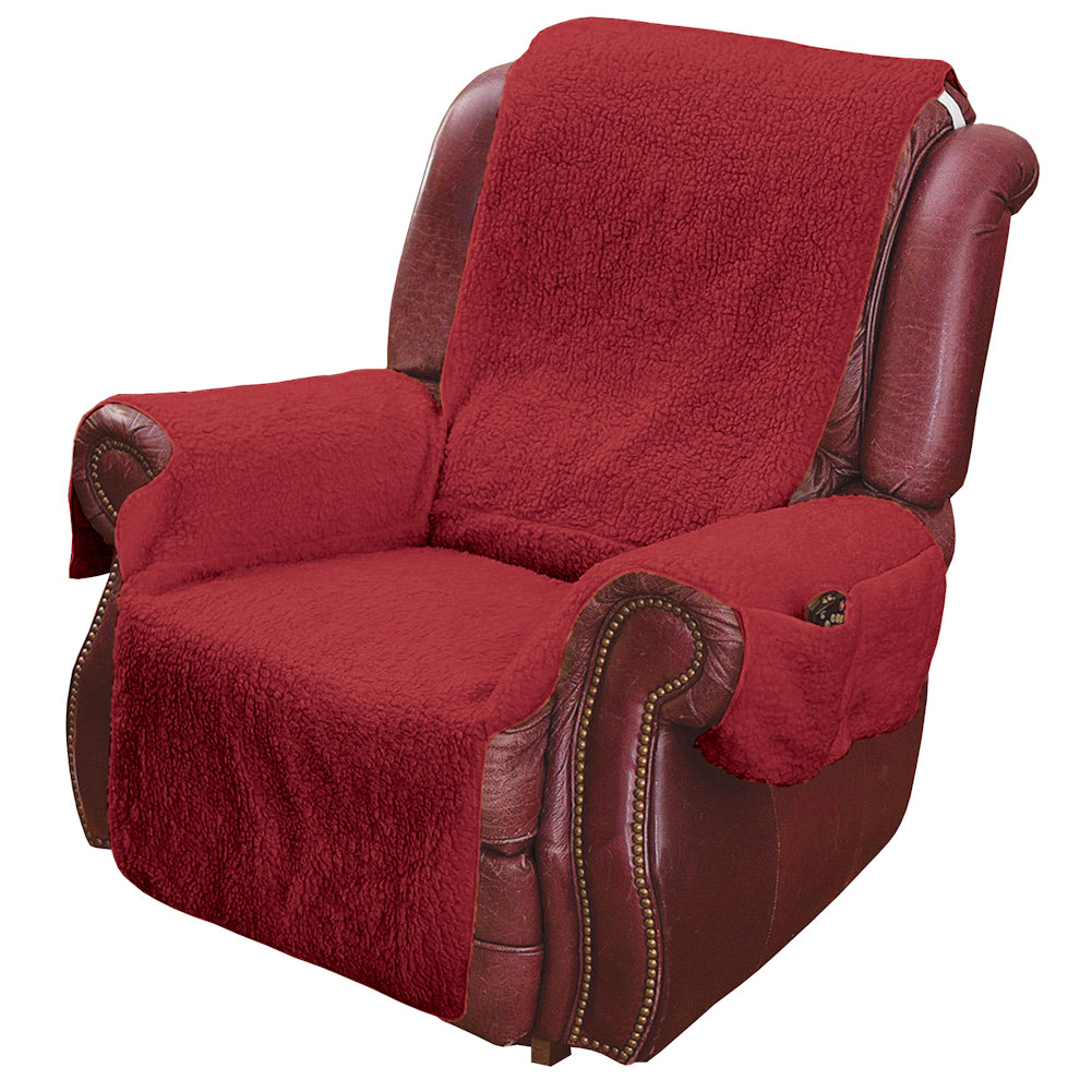 Genial Recliner Chair Cover Protector With Pockets For Remotes And Cellphones