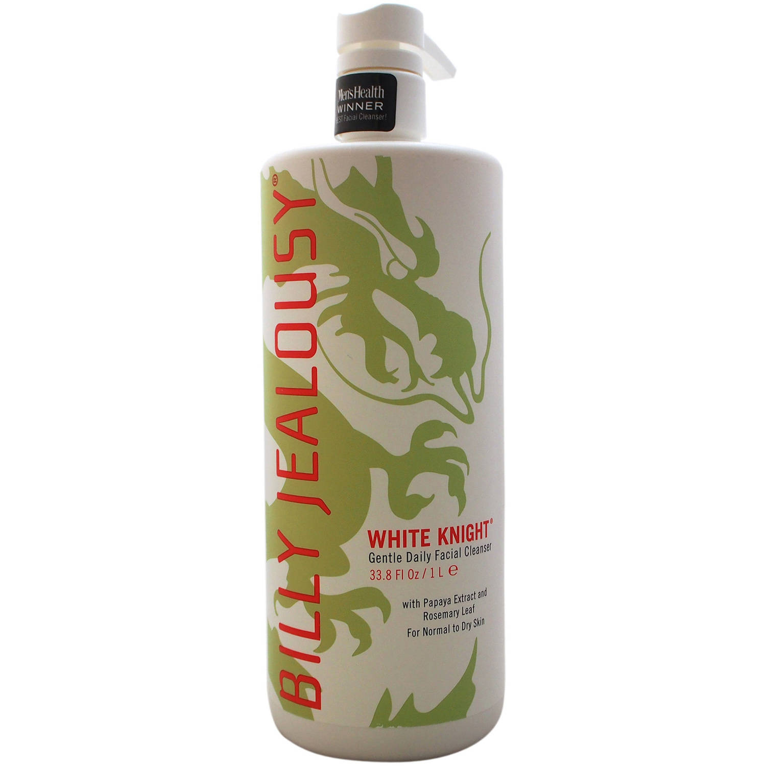 White Knight Gentle Daily Facial Cleanser by Billy Jealousy for Men, 33.8 oz
