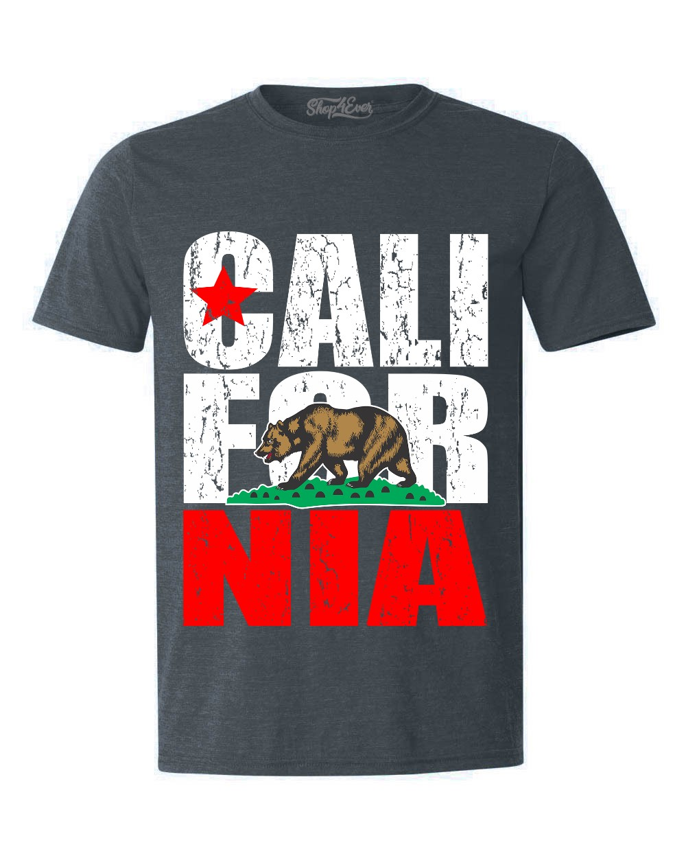 T-Shirt Casual Novelty Welcome to California Bear t Shirts Girls Tops ComfortSoft