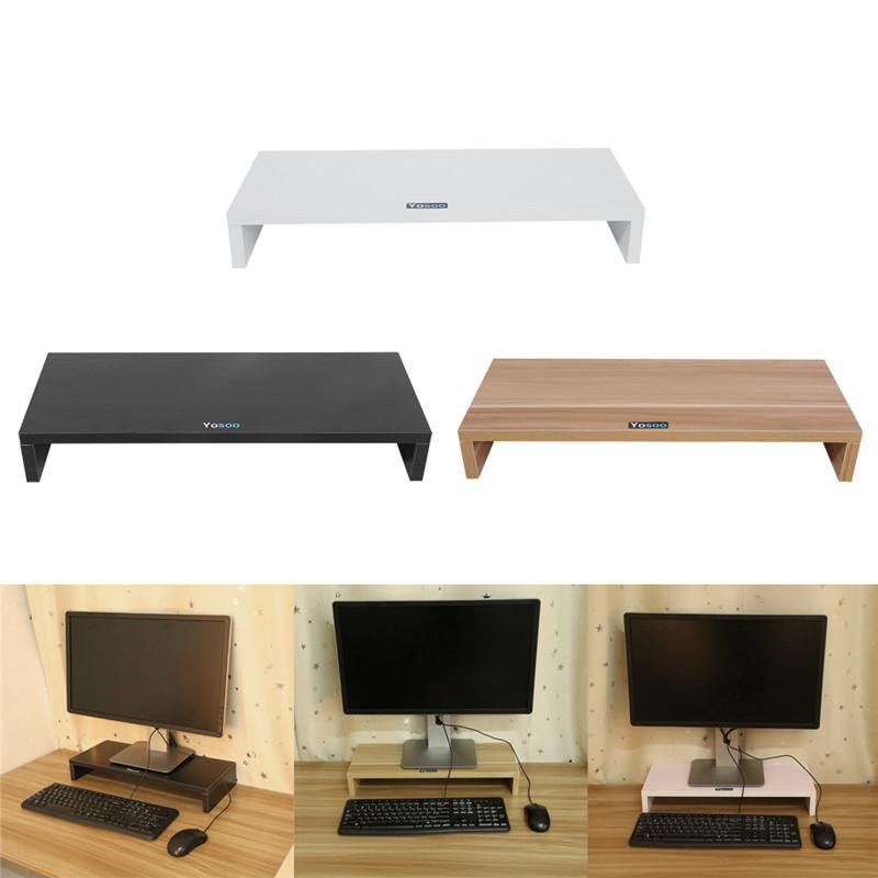 Wooden Computer Monitor Stand,Wooden Stand Monitor Riser Desktop Organizer,Wooden