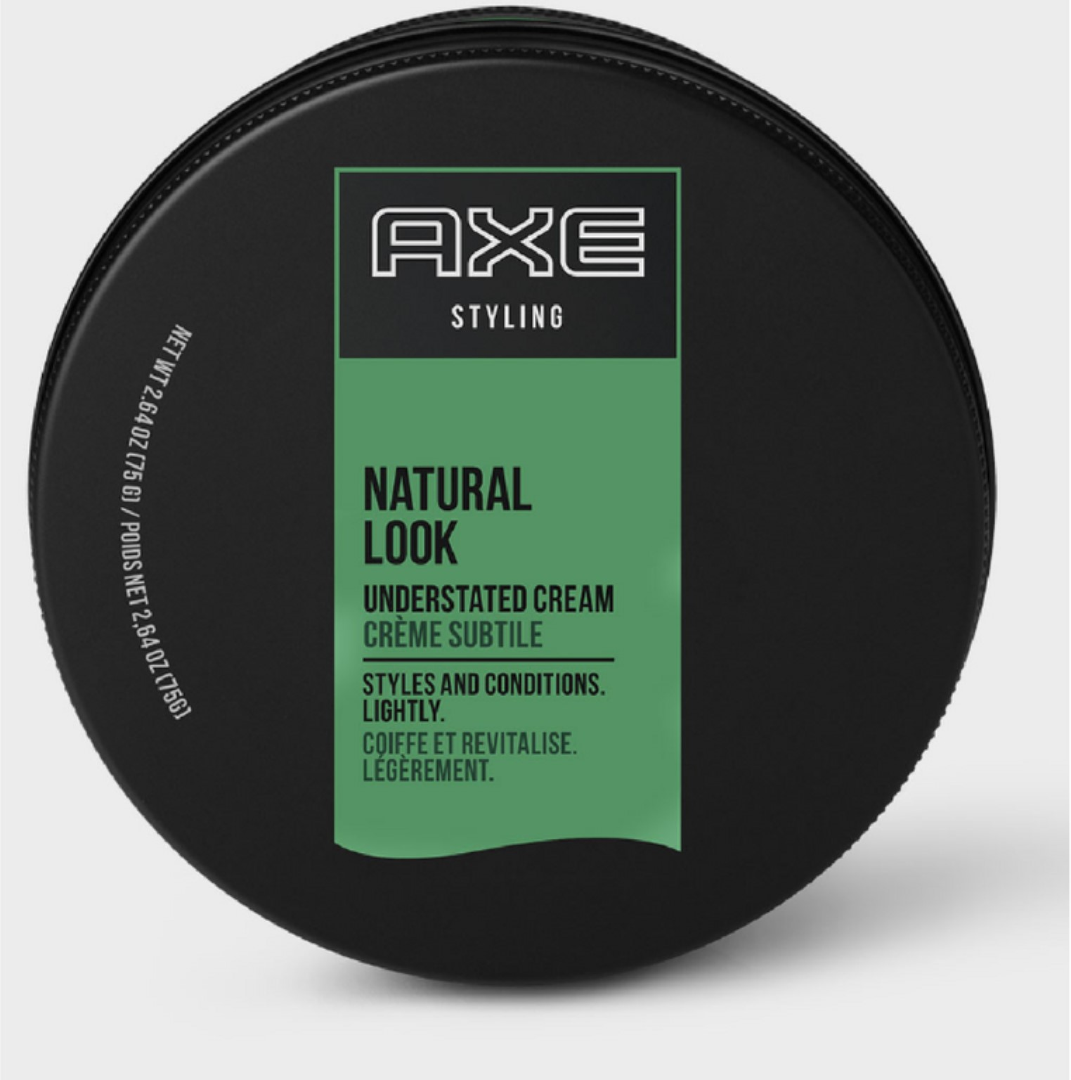 Axe Understated Natural Look Hair Styling Cream 2.64 oz (Pack of 2)