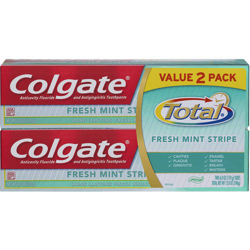 Colgate Total Fresh Mint Gel Toothpaste, 6.0 oz Twin Pack