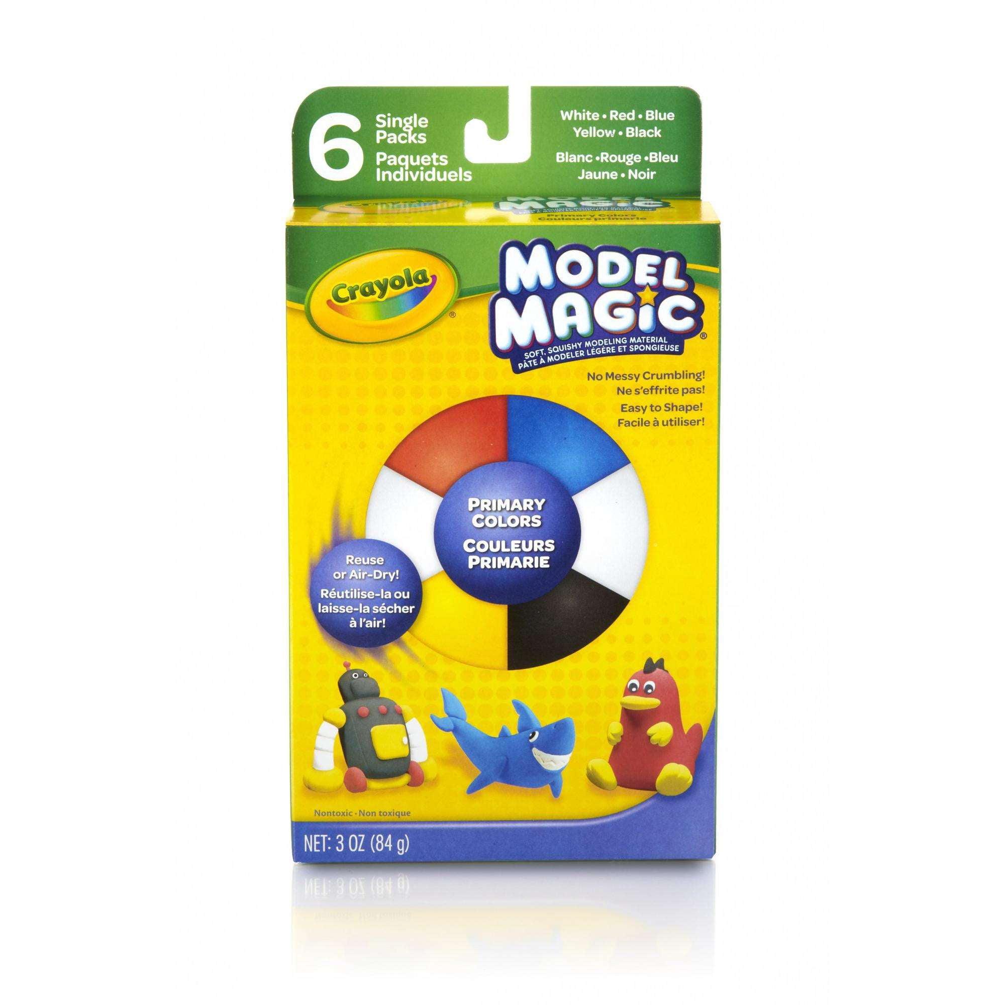 Crayola Model Magic, Primary Colors, Clay Alternative for Kids, 3oz by Crayola LLC