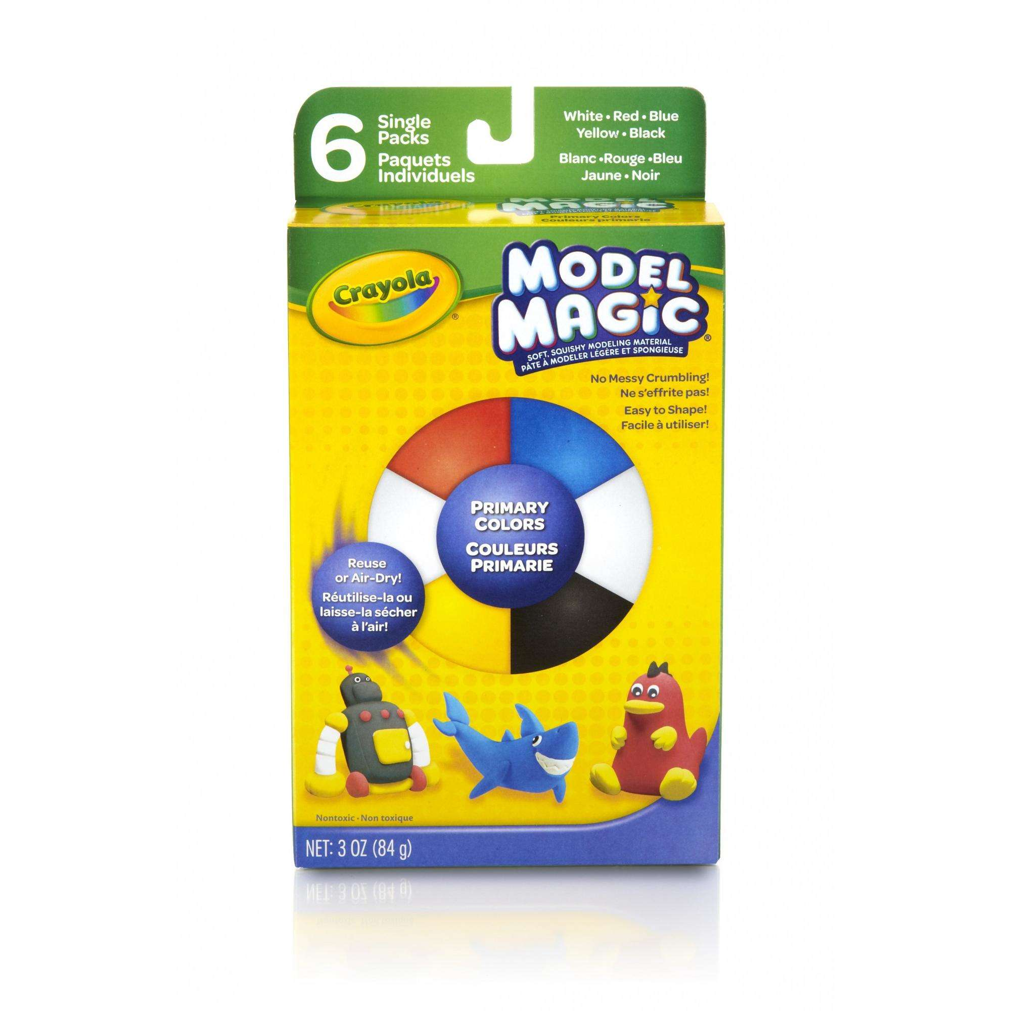 Crayola Model Magic Clay Alternative for Kids in Primary Colors, 6 Count