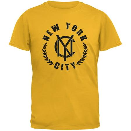 NYC Emblem Gold Adult T-Shirt (Emblem Adult T-shirt)