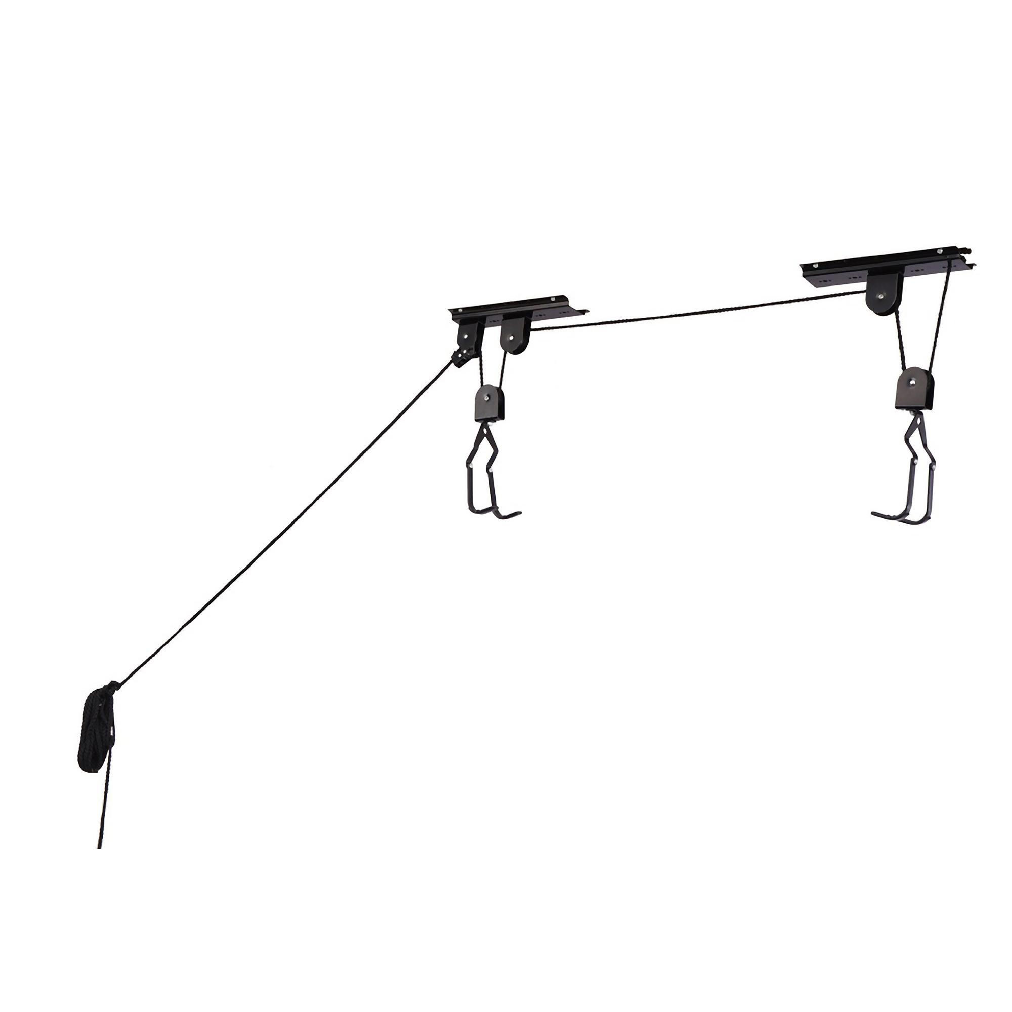 RAD Cycle Products Heavy Duty Bike Lift Hoist For Garage Storage 100lb Capacity Mountain Bicycle Hoist