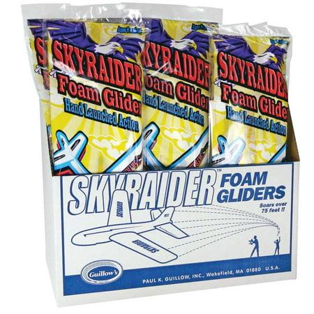 Sky Raider Foam Glider Display(18) Multi-Colored - Foam Gliders