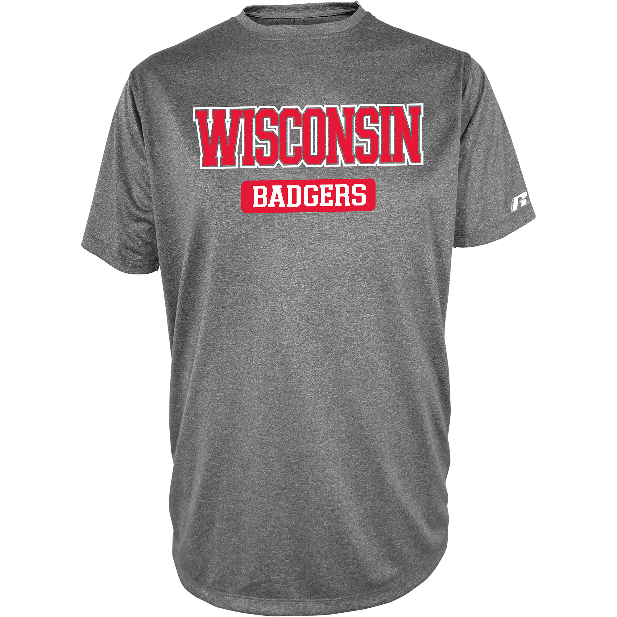 Russell NCAA  Wisconsin Badgers, Men's Impact T-Shirt