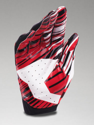 Under Armour Men/'s UA Sizzle Receiver Gloves 1290815-600 Red