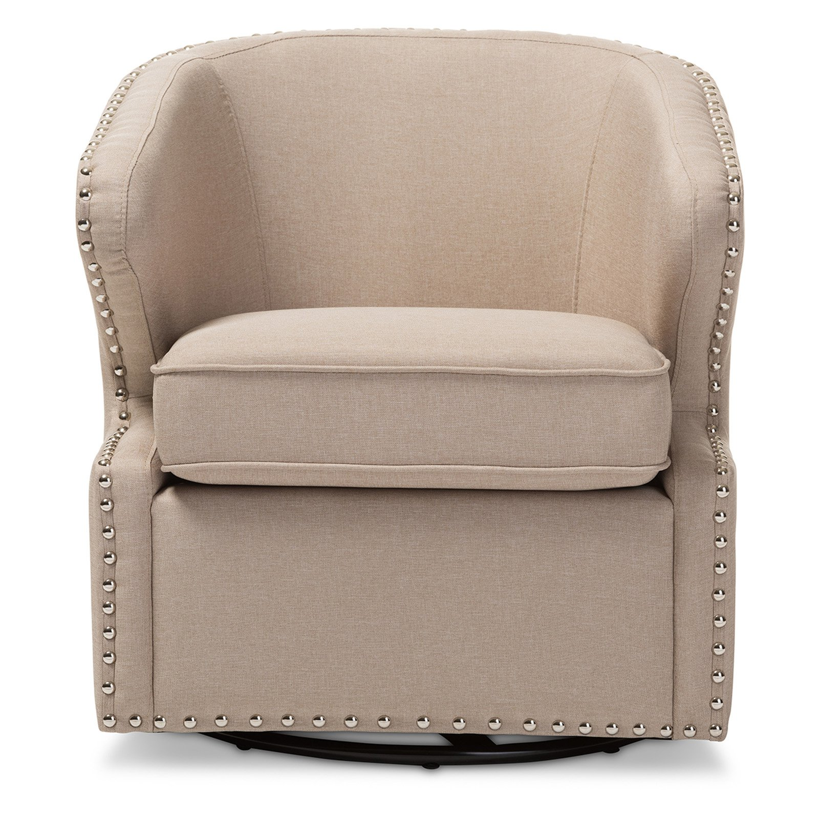 Click here to buy Baxton Studio Finley Swivel Armchair by Wholesale Interiors.
