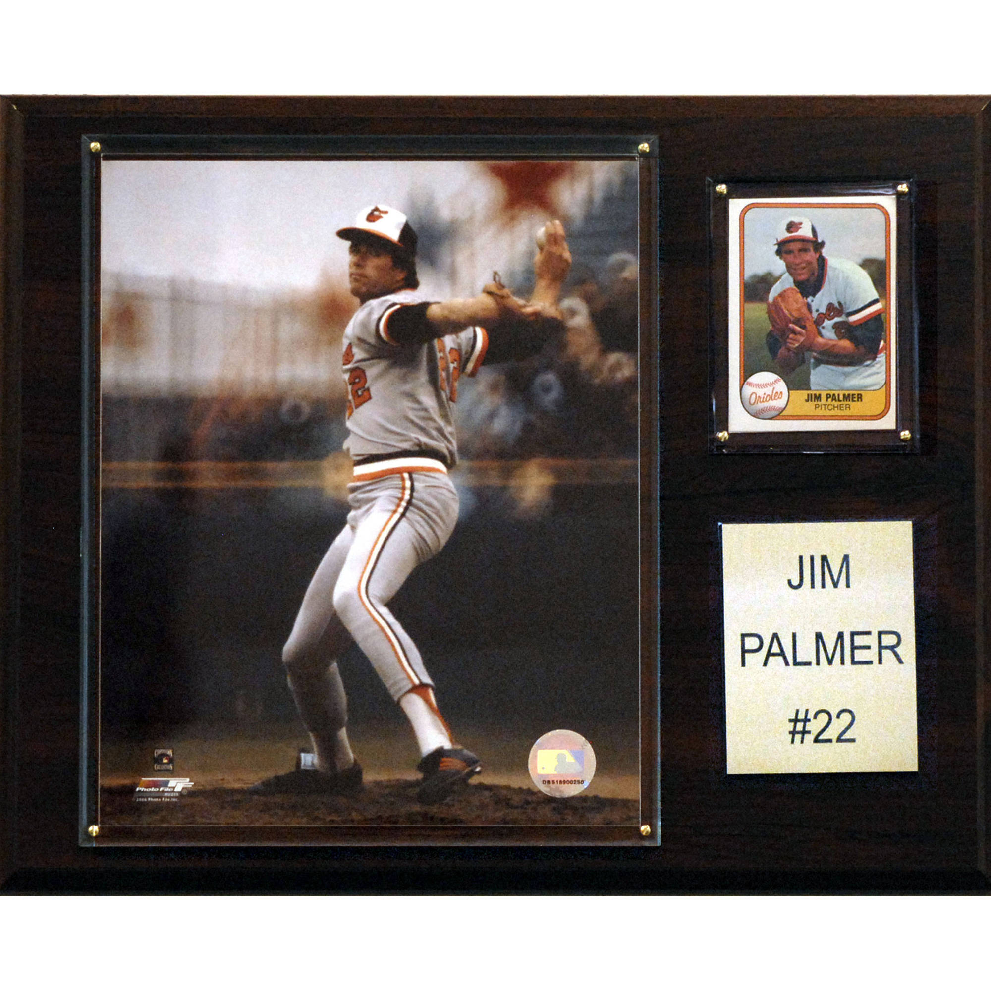 C&I Collectables MLB 12x15 Jim Palmer Baltimore Orioles Player Plaque