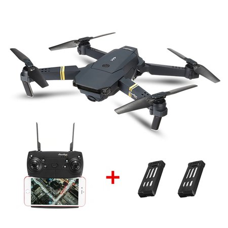 Eachine E58 6 Axis 2.4G 4CH WIFI FPV RTF RC Drone Quadcopter with 0.3MP/2MP HD Camera Foldable Wide Angle Camera High Hold Mode RC Toys Gifts Kid (Heli Max 1sq V Cam Rtf Quadcopter)