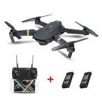 Eachine E58 6 Axis 2.4G 4CH WIFI FPV RTF RC Drone Quadcopter with 0.3MP/2MP HD Camera Foldable Wide Angle Camera High Hold Mode RC Toys Gifts Kid Adult