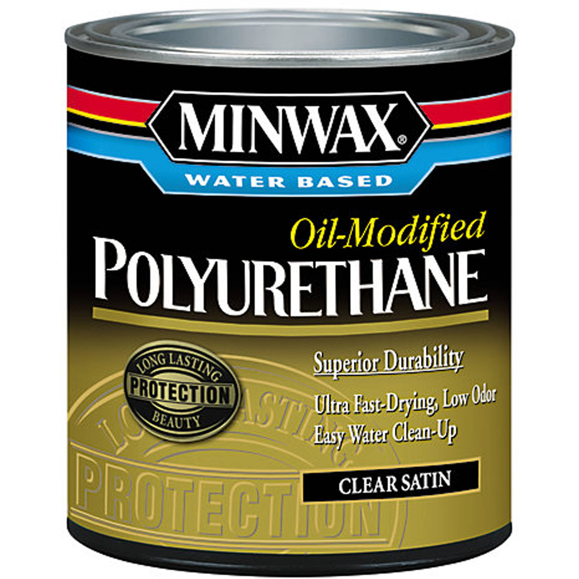 Minwax Water Based Oil-Modified Polyurethane, 1/2 pt, Satin