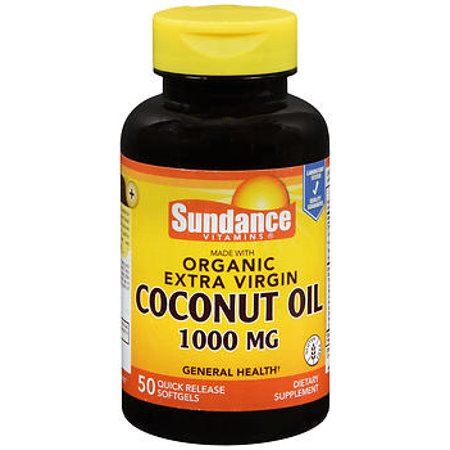 Sundance Vitamins Extra Virgin Coconut Oil 1000 Mg   50 Softgels